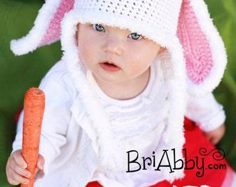 Crochet Bunny Rabbit Hat Pattern (PDF FILE)