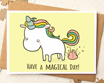 Funny birthday cards etsy unicorn card funny birthday card unicorn birthday card have a magical day bookmarktalkfo Image collections
