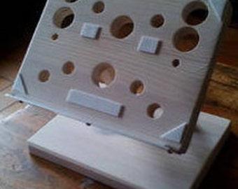 support de tablette en bois vernis blanc