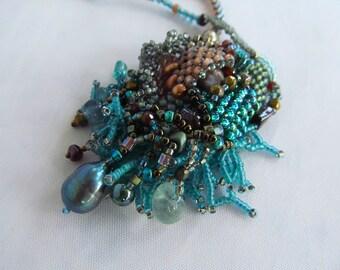 Free Form Peyote Beadwork Necklace