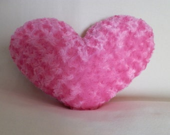 Soft Pink Heart Pillow or Plush / Valentine's Day, Anniversary / Stuffed Heart
