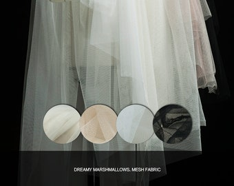 Solid transparent/sheer mesh fabric,black,white,ivory,apricot, ewing for wedding dress,skirt,layered dress,tiered skirt,craft by the yard