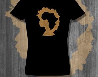Afro Natural Hair T shirt tops and tees t-shirts t shirts| Free Shipping