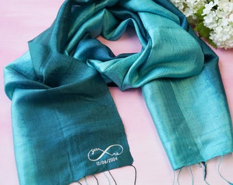 Infinity scarf - personalised scarf - personalised infinity scarf - anniversary gift