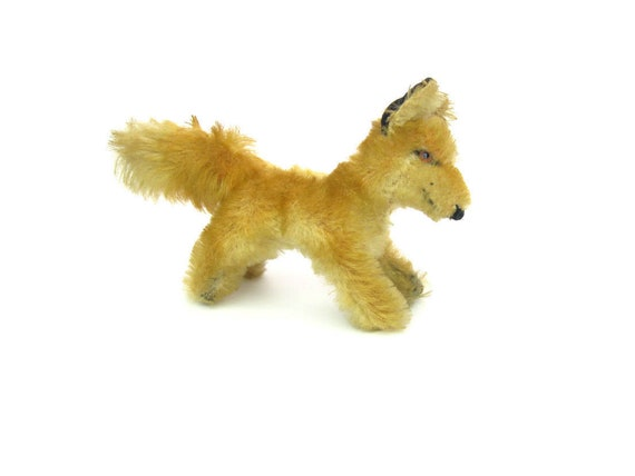 "Vintage 1950s Steiff Running Baby Red Fox ""Fuchs"" Stuffed Animal"