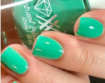 Roxx for Kids - Green Aventurine - Luck - Crystal Infused Nail Polish - Non-Toxic - Vegan - Crystal Energy