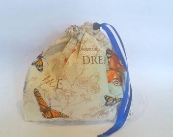 Draw String Small Bag 'Butterflies'