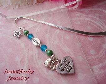 """Love, Special Teacher Bookmark  5"""" -- Girls/Boys/Adult -- Teacher Appreciation Gift -- Kawaii Gift Bag"""