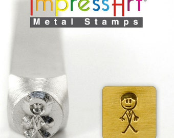 Daddy Stick Figure Metal Stamp ImpressArt- 7 mm  Design Stamp-Perfect for Your Hand Stamping Needs-Steel Stamps