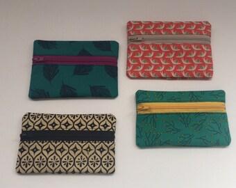 Custom Zipper Wallet or Coin Purse