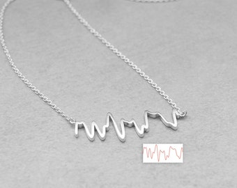 Actual Heartbeat Necklace - Baby EKG Heartbeat Necklace - Personalized Actual Heartbeat Jewelry - Meaningful Gifts for Mom PN02