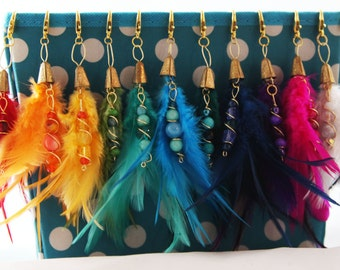 Feather Tassel Planner Charm - Pick your color!