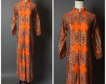 Vintage 70s jumpsuit / 1970s jumpsuit / jumpsuit / novelty print /  hippie boho jumpsuit / 8430