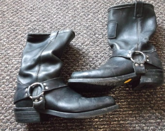 Chippewa Vintage WELL WORN Harness Boots Engineer Boots Motorcycle Boots Biker Boots TRASHED
