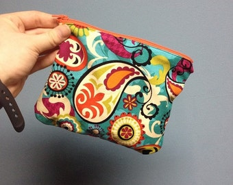 Handmade Colorful Pouch With Zipper