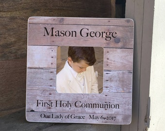 ON SALE  First Communion  Personalized Picture Frame First Holy Communion Frame  Gift Personalized Picture Frame