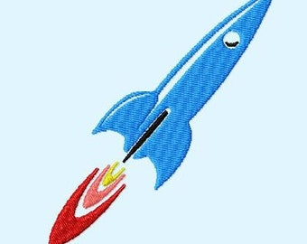 Embroidery pattern - Rocket