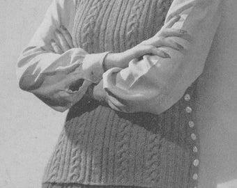 1940s Beehive Jerkin and Skirt