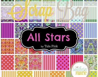 All Stars - Scrap Bag Quilt Fabric Strips by Tula Pink for Free Spirit