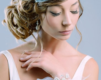 SAMPLE- Nocturne pearl and crystal headband