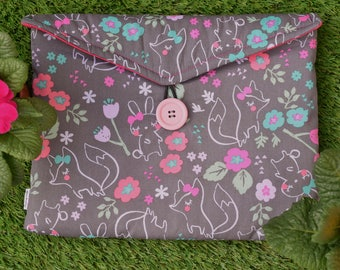 Foxes and Bunnies Print Gadget Tablet Bag - Various Sizes For All Popular Models
