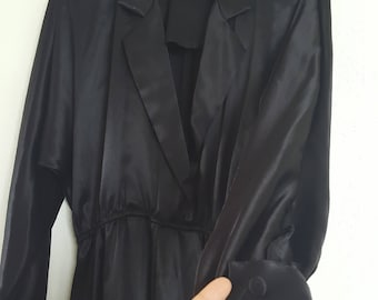 Black Jumpsuit / Satin Finish