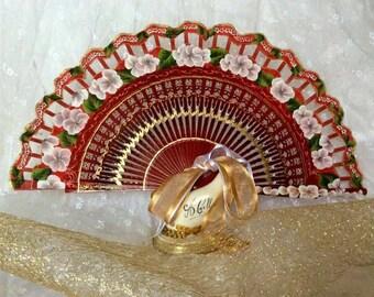 Fan, hand-painted fan
