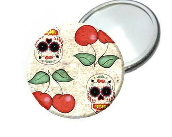 Mirror - Day of the Dead Sugar Skull & Cherry