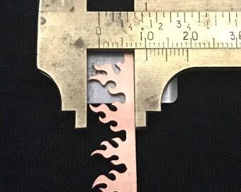 1 large 10mm Copper Fire Beze 20 gauge thick