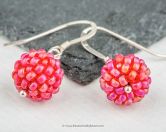 Beaded Bead Mini Earrings