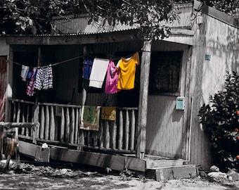 St Martin Laundry photo / 8 x10 Caribbean print /Tropical cottage / Caribbean photography