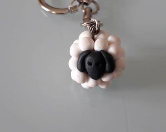 Key sheep polymer clay