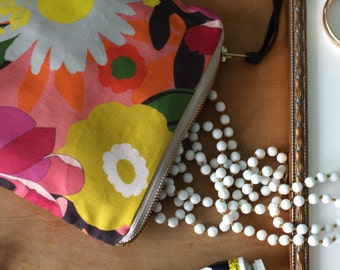 Zipper Purse, Clutch, Flower Purse