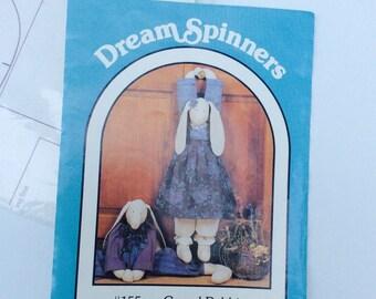 Rabbit Pattern Dream Spinners 1988 Grand Rabbits #155 Pattern, Rabbits Door Knob Patterns Draft Door Stopper Door Stop, Home Decor Craft Kit