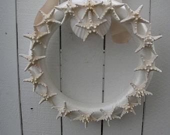 Sea Shell Wreath  Shabby Chic   Cottage Wreath   Nautical Wreath   Sea Shore Decor  CLEARANCE SALE PRICED