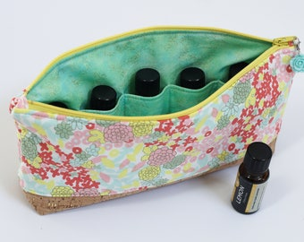 Essential Oil Pouch - Mint Flowers