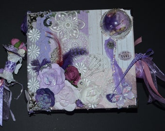 Handmade Lavender photo album