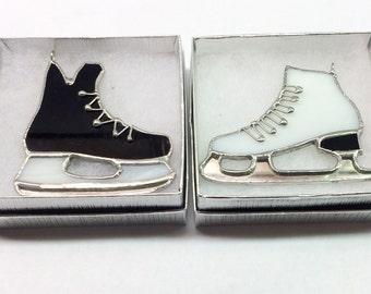Handmade Skate (Hockey or Figure) Stained Glass