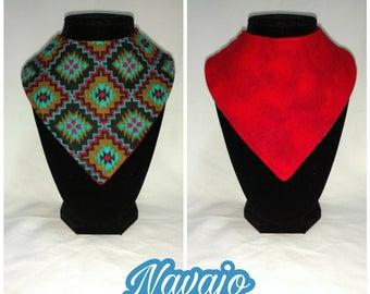 FREE SHIPPING - Reversible bandana bib - navajo