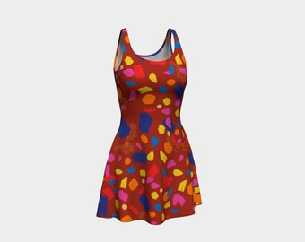 Red Paint Splatter Swatches Dress