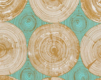 Joel Dewberry Fabric, Tree Ring Bling, PWJD140 Dijon, Free Spirit, 100% Cotton, #FS19