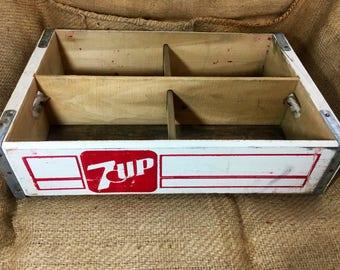 Vintage 7up wood crate, Soda, Pop