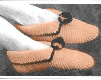 Ladies Easy Knit Slippers Pattern - PDF Pattern Download