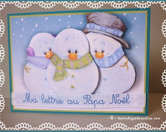 Greeting card: letter to Santa for wise child or for.. .the large!