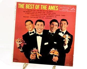The Best of The Ames Brothers LP ,  Ames Brothers Record , Ames Brothers Hits , Vintage Vinyl LP Record , 50s Music , 50s Record , 50s Sound