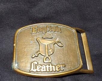 Vintage English Leather Belt Buckle