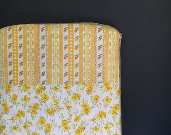 Vintage Sheet Patchwork Fitted Crib Sheet - Bumperless Bedding by Vintage Kandy - Ready 2 Ship