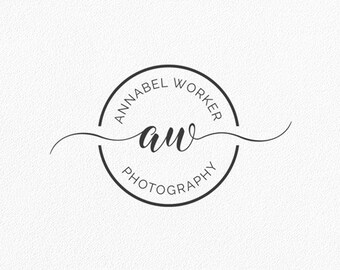 Blogger Logo Initials Logo Circle Logo Photography Logo Round Logo Monogram Logo Shop Blog Watermark Boutique Custom Logo Design #PL27