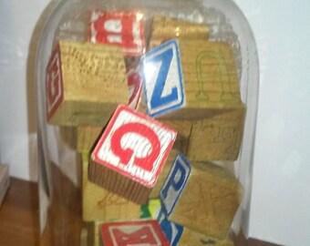 Blocks and Jar - Vintage Antique