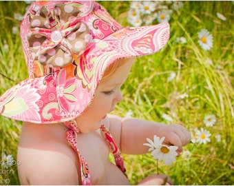 Floppy Flower Sun Hat: Sun Hat PDF Sewing Pattern